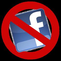 delete facebook icon