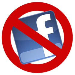 delete facebook icon